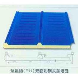 聚氨酯(PU)双面彩钢夹芯墙面