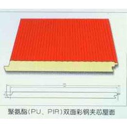 聚氨酯(PU、PIR)双面彩钢夹芯屋面